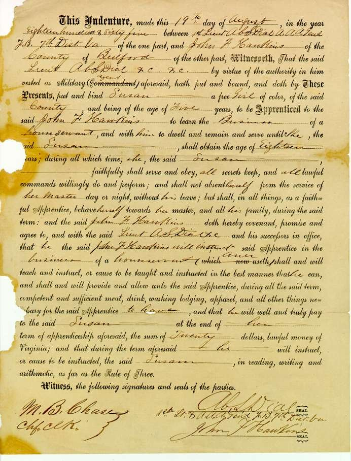 Indentured Servant Contract a term of indenture to me