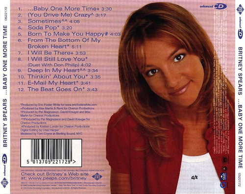 Britney Spears - ...Baby One More Time - Back